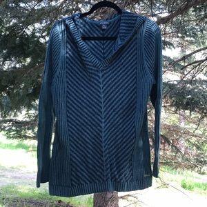 Green & Navy Eddie Bauer Knitted Hoodie